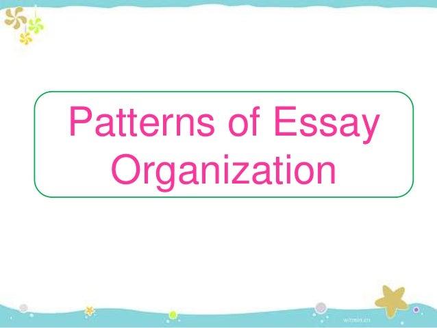 patterns of organization in essay writing