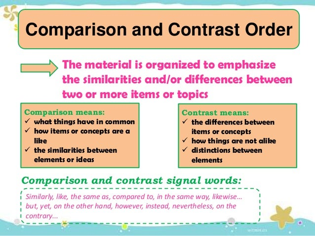 The Compare/Contrast Essay