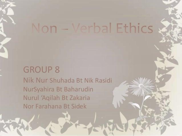GROUP 8Nik Nur Shuhada Bt Nik RasidiNurSyahira Bt BaharudinNurul 'Aqilah Bt ZakariaNor Farahana Bt Sidek