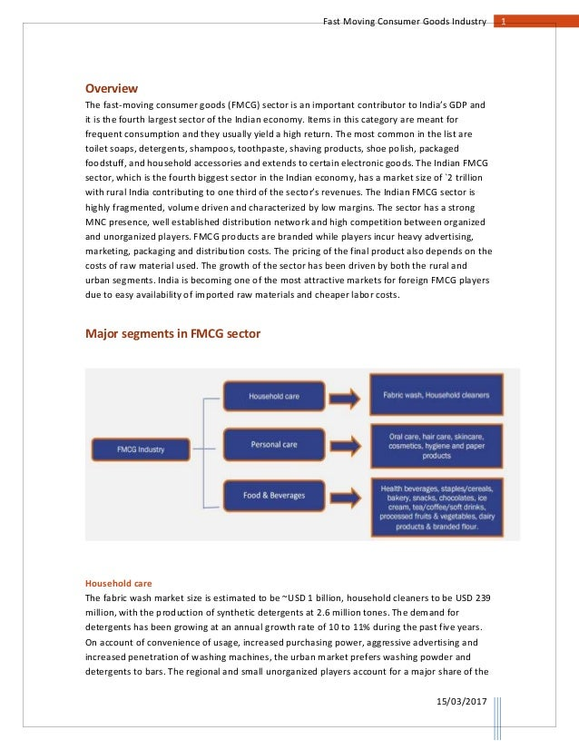 indian fmcg industry overview Competitive advantage and performance: an analysis of indian fmcg industry, ashok k sar.