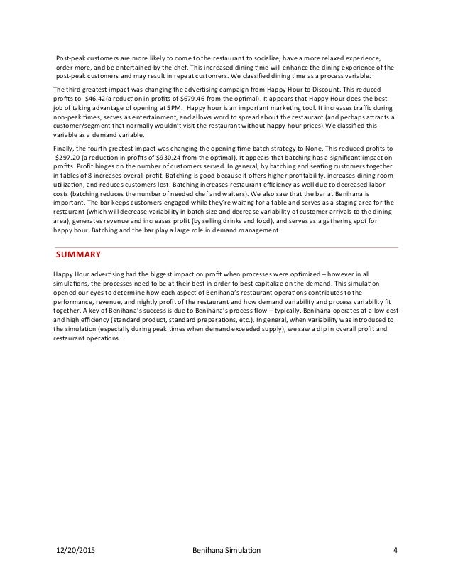 benihana harvard case answers