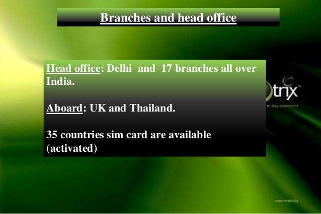 Matrix forex card india