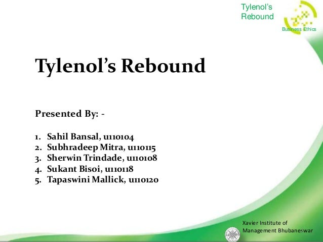 Tylenols rebound