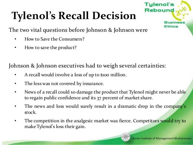 crisis management johnson and johnson Lawsuits over johnson & johnson products raise questions about ethics at the company let's go back to the fall of 1982, when seven people in the chicago area collapsed suddenly and died after taking extra-strength tylenol capsules, manufactured by mcneil consumer healthcare, a subsidiary of johnson & johnson, which had been laced with cyanide.