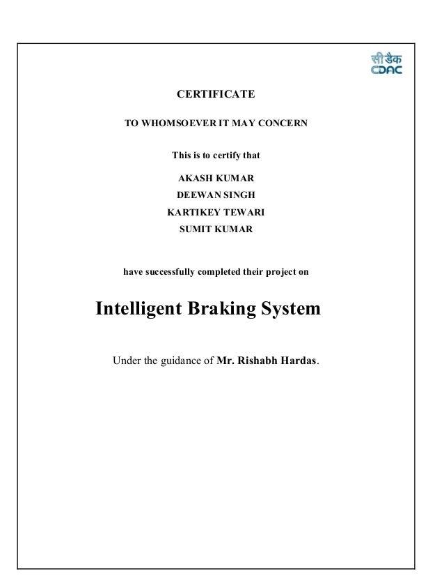intelligent braking system report Slide 2