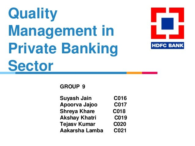 quality in banking industry