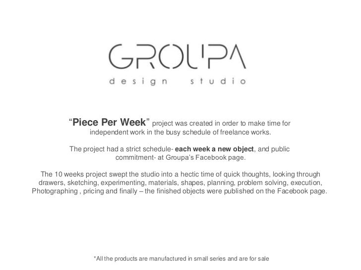 """""""Piece Per Week"""" project was created in order to make time for <br />independent work in the busy schedule of freelance wo..."""