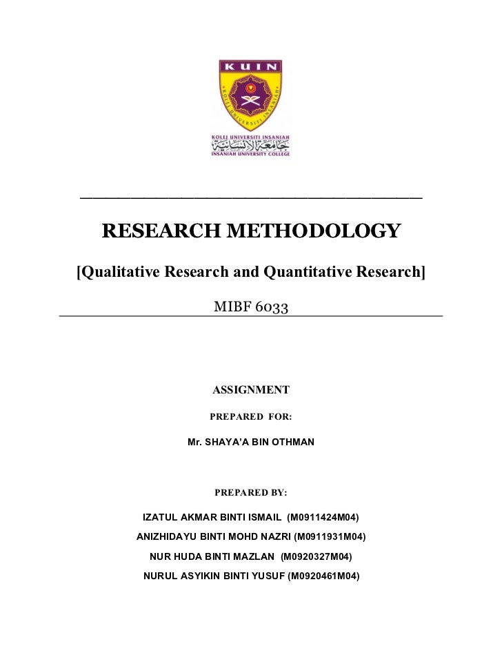 ___________________________     RESEARCH METHODOLOGY [Qualitative Research and Quantitative Research]                     ...