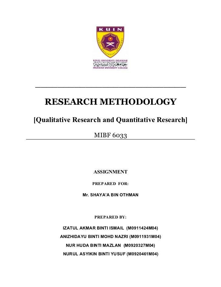Dissertation methodology quantitative qualitative