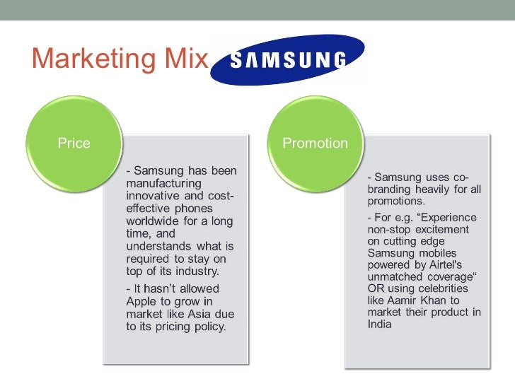 Promotion mix of samsung