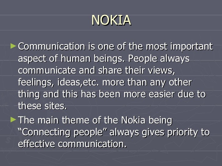 assignment on nokia Services opportunities at nokia  assignment- ensures the management and supervision of managed network infrastructure elements and.