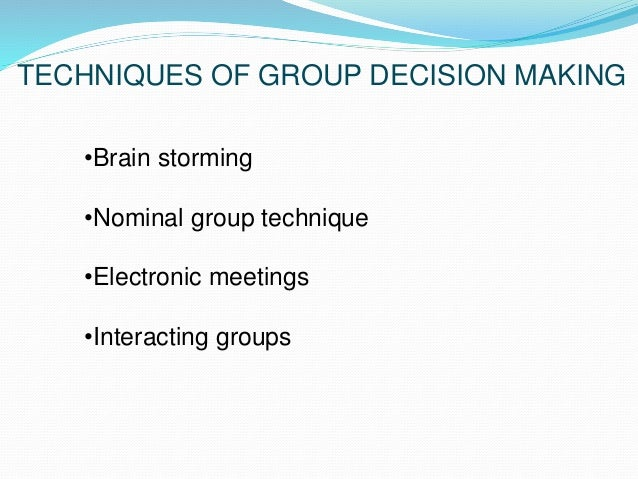 1 how effective are interacting brainstorming nominal and electronic meeting groups I have examined the final electronic copy of this dissertation for form and  1  functional theory of group decision-making   barriers to interacting  brainstorming group performance   follow during any brainstorming session   performance of nominal brainstorming groups in the number of ideas  generated during a.