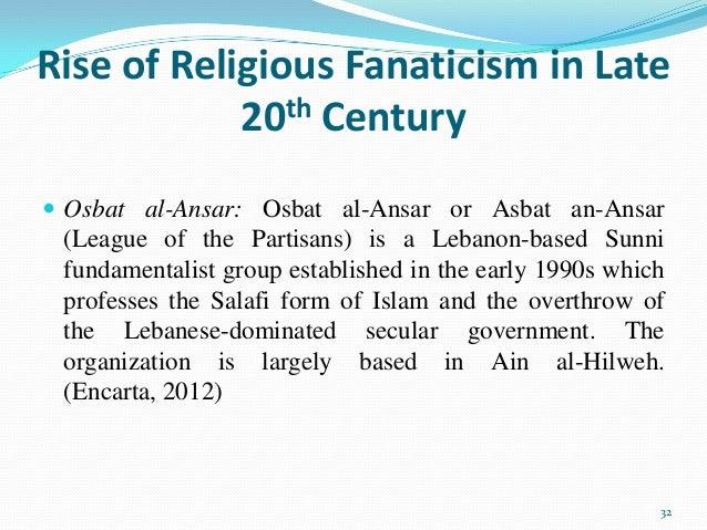 (Encarta, 2012) 32; 32. Rise Of Religious Fanaticism ...