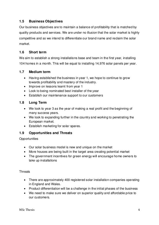 solar energy business plan doc