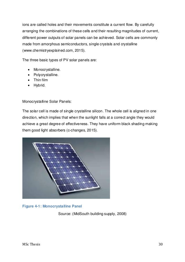 msc thesis on solar energy The thesis shows that high renewable energy deployment powers a sustainable future in namibia 1  32 solar photovoltaic electricity generation .