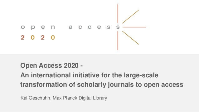 UKSG Conference 2017 Breakout - Open Access 2020 – an