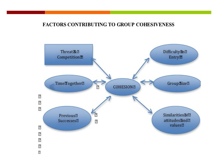FACTORS CONTRIBUTING TO GROUP COHESIVENESS     Threat &                         Difficulty in    Competition              ...