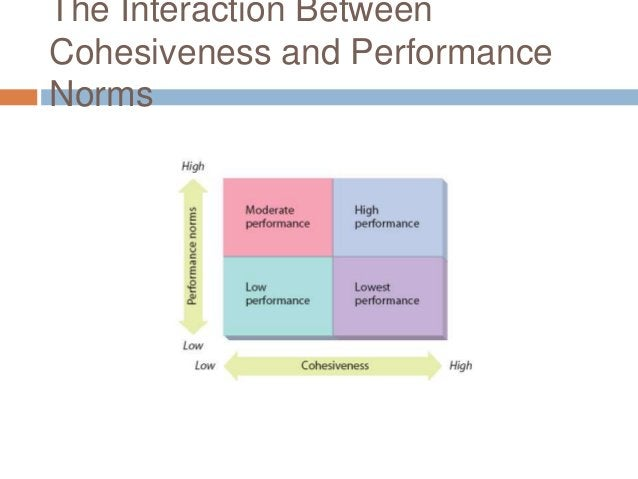 The Interaction BetweenCohesiveness and PerformanceNorms