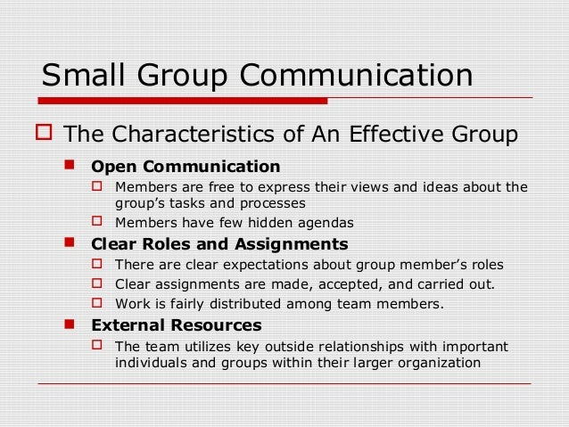 small group communication roles