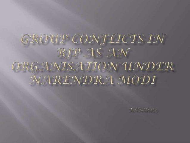 Group Conflicts 19