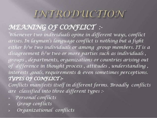 Group Conflicts 72