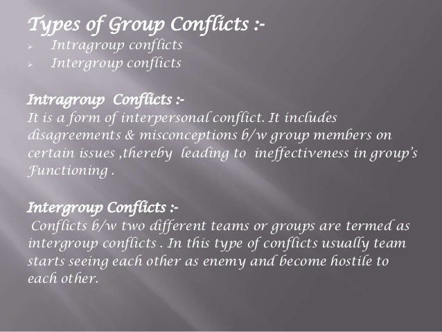 Group Conflicts 48