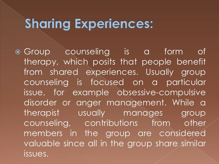 advantages and disadvantages of group counselling