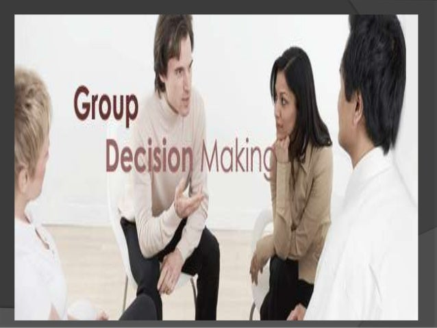 This is the activity in which group members are engaged in making decisions. Decision helps in solving problems and re-so...