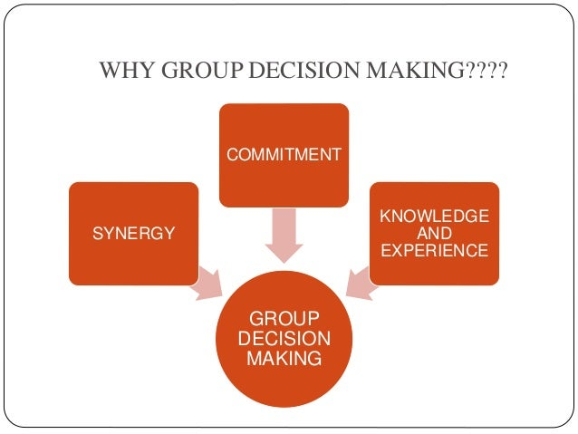 method of group decision making What is the difference between a decision-making method and  a group of people or an organization in making a  is the difference between a decision-making.