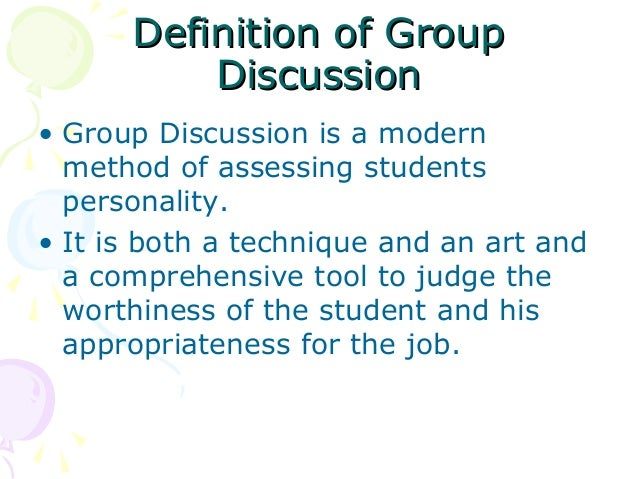 group discussion ppt