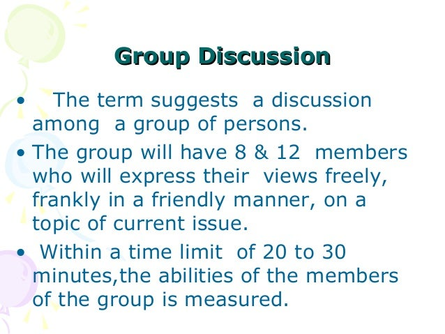 group discussion essay One is to form small groups of about three students when the teacher asks a  discussion question, every group has a small discussion of its.