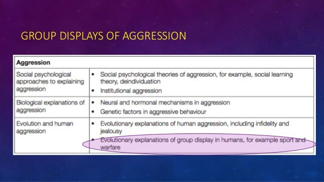 Discuss evolutionary explanations of human aggression including infidelity and/or jealousy