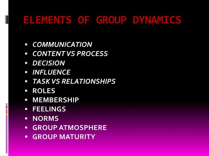group dynamics and group processes Amazoncom: group processes: dynamics within and between groups (9780631184966): rupert brown: books.