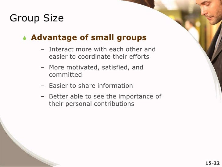 advantages of groups