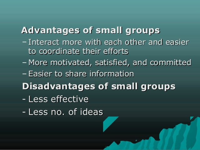 advantages and disadvantages of group work in the classroom pdf