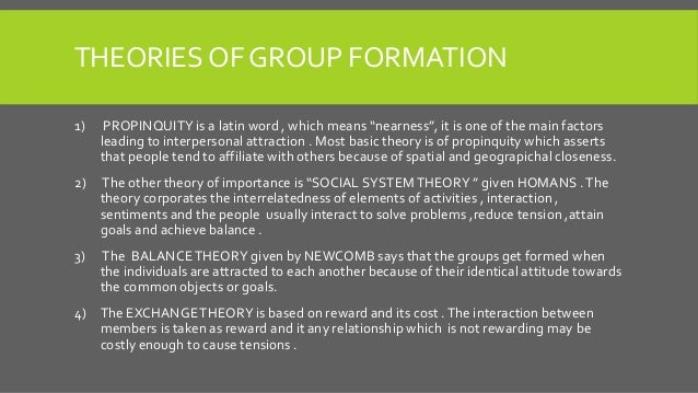 group formation meaning