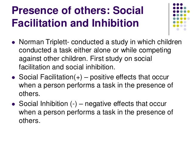 effects of social facilitation on individual Different from individual buying in standard business-to-  importantly, we also tested for effects of social facilitation on task completion and time to completion.