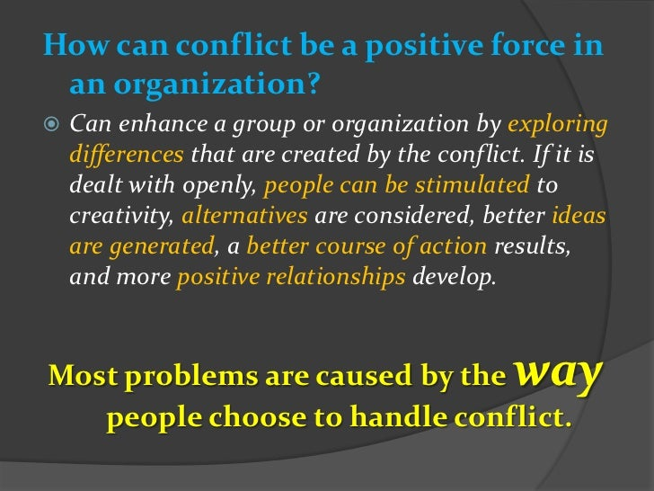 team dynamics and conflict resolutions This person also influences other team dynamics in the workplace  quick conflict resolution  conflict can help a team improve certain practices and decisions.
