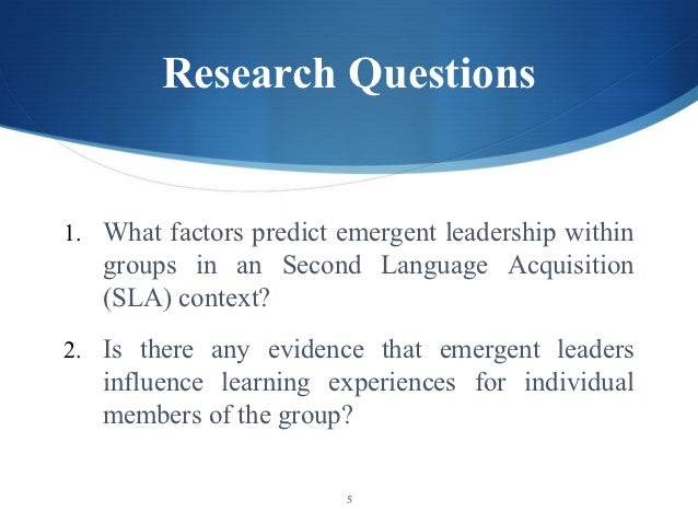 factors influencing the second language acquisition Cultural factors that influence learning for ell students in seeking to understand the relevance of cultural factors and the ways those factors influence second.