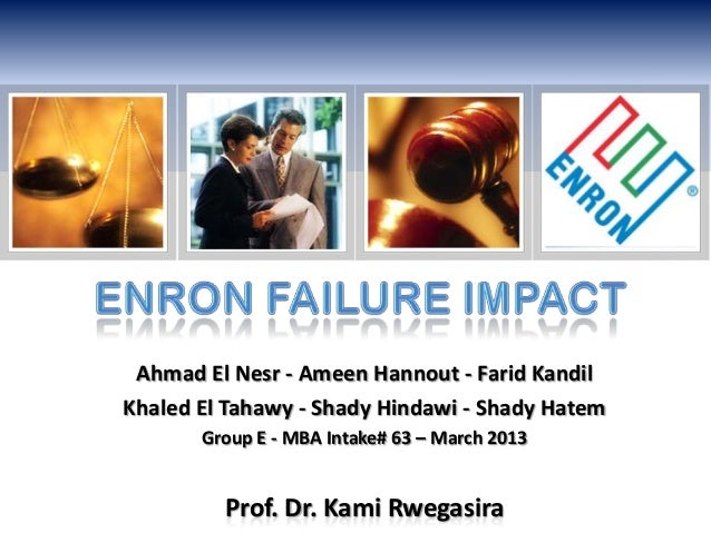 The failure of enron essay