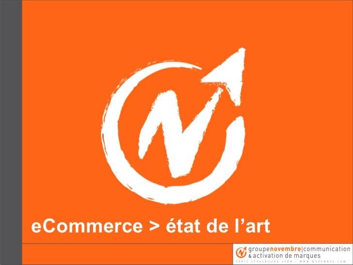 eCommerce > état de l'art