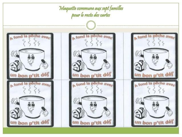 Maquette commune aux sept familles  pour le recto des cartes