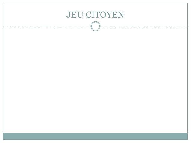 JEU CITOYEN