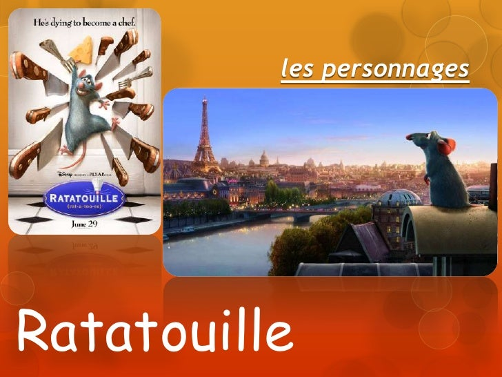 les personnages<br />Ratatouille<br />