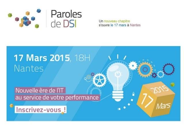 Nantes – 17 mars 2015 DATA MANAGEMENT De quelle façon peut t'on stocker la donnée pour un accès optimal pour le meilleur c...