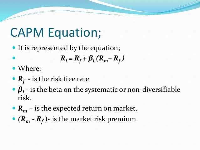 capm financial management Video created by emory university for the course finance for non-financial managers this module will teach cost of capital, including weighted average cost of capital, and risk management.