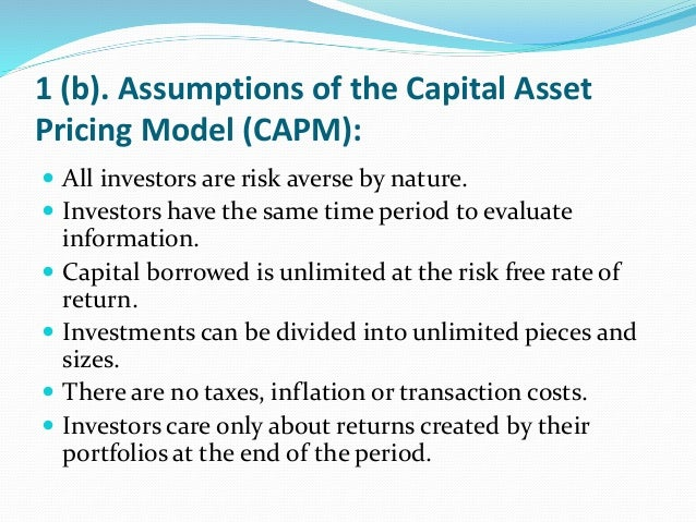 capm financial management Capm, the capital asset pricing model, embodies the theory  where he teaches corporate financial management in the mba and executive programs.