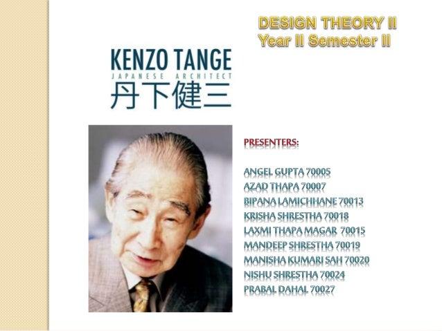 Kenzo Tange Slide 1