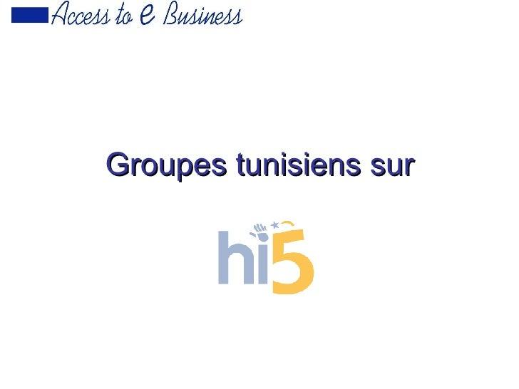 Groupes tunisiens sur