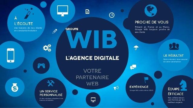 8  b des besoins de nos clients en constante évolution  5  a  [ Présent en France et au Maroc, Groupe Wib toujours proche ...